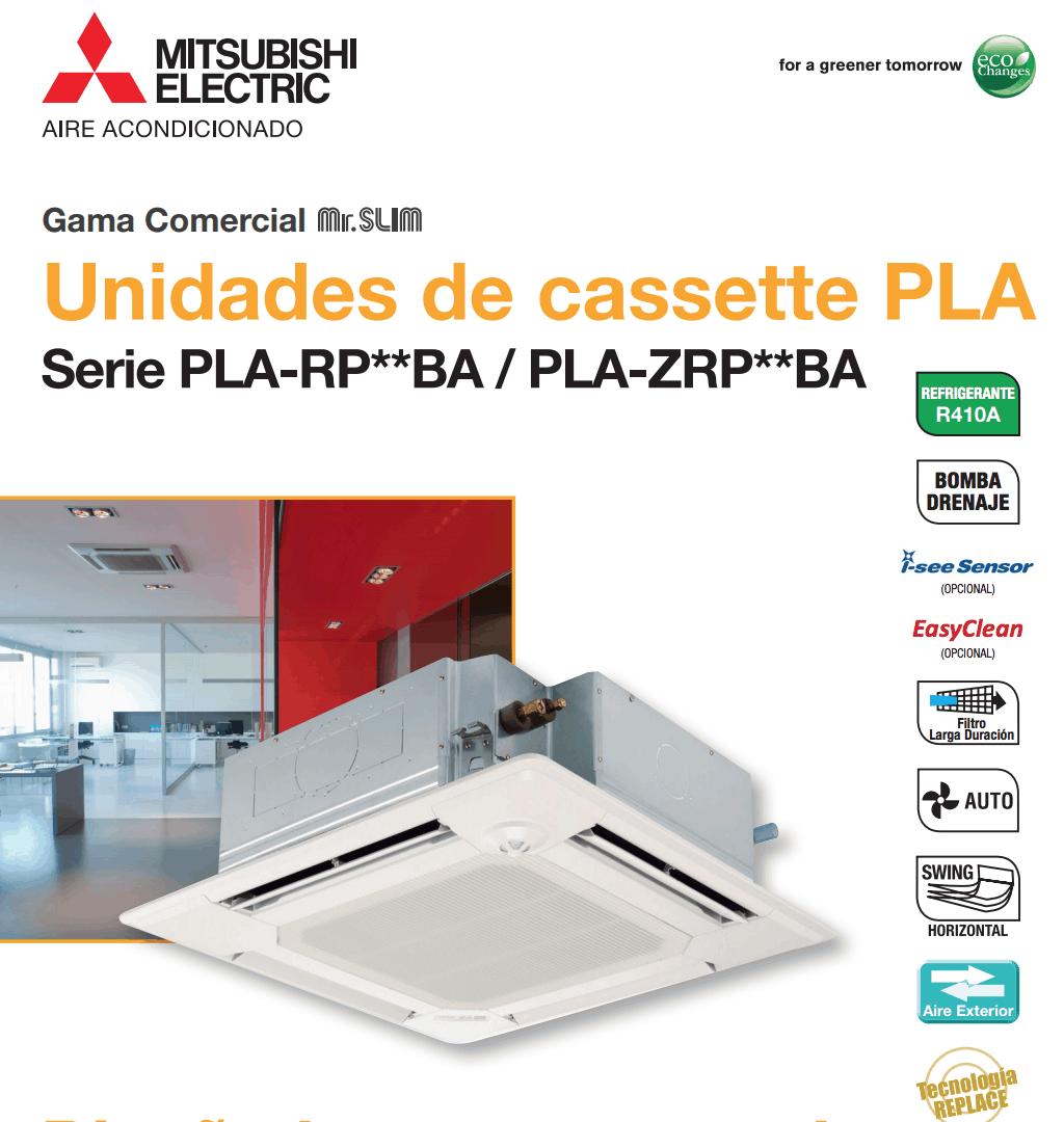 Cassettes PLA Mitsubishi Electric Aire Acondicionado