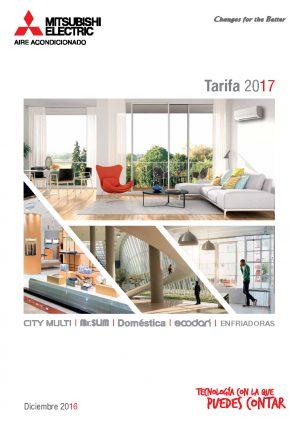 Tarifa catálogo 2017 · Aires Acondicionados Mitsubishi Electric Portada