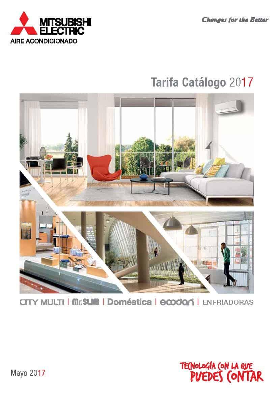 Tarifa Cat U00e1logo 2017  U2192 Aires Acondicionados Mitsubishi