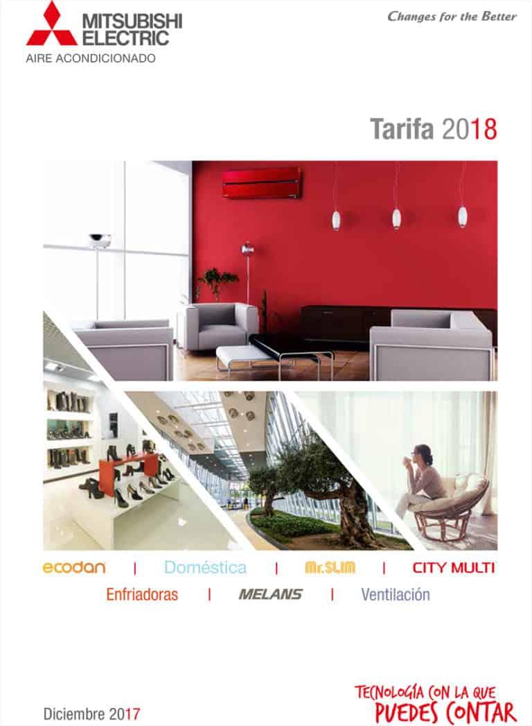 Tarifa catálogo 2018 · Aires Acondicionados Mitsubishi Electric