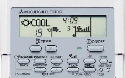 control remoto aire acondicionado Mitsubishi Electric