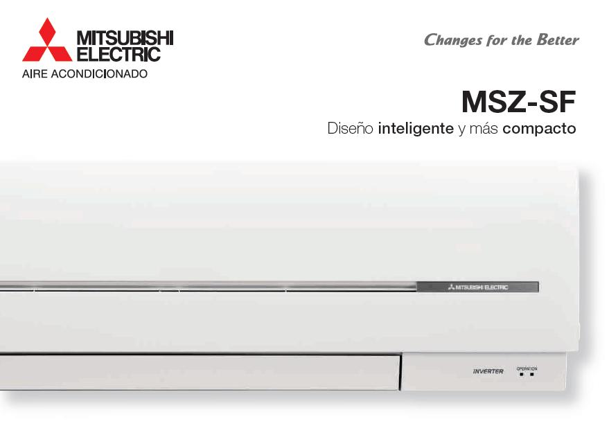 Aire acondicionado split modelo SF de Mitsubishi Electric