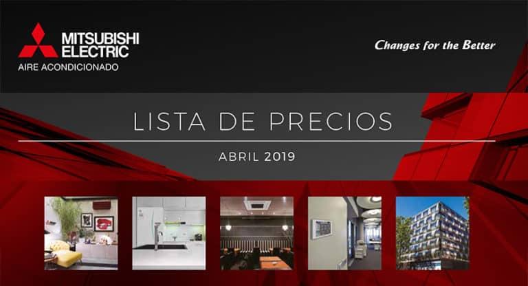 Tarifa abril 2019 · Aires Acondicionados Mitsubishi Electric