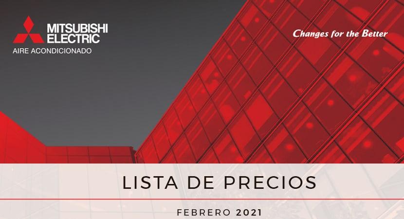 Tarifa catálogo 2021 (feb21) · Aires Acondicionados Mitsubishi Electric