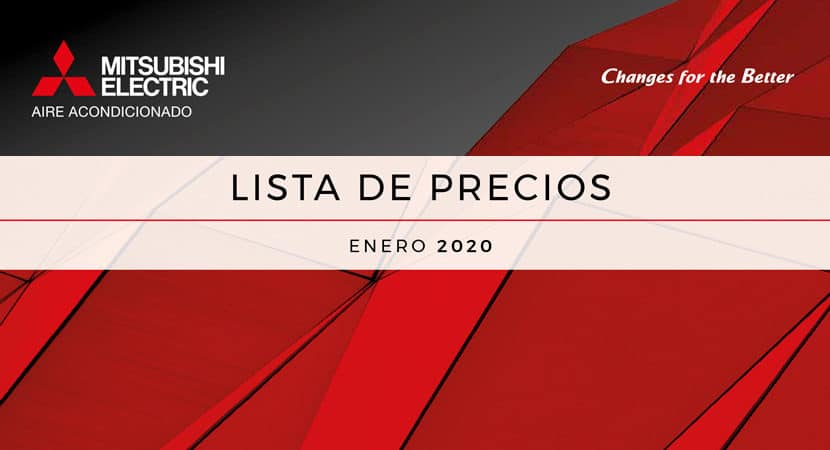 Tarifa catálogo 2020 (ene20) · Aires Acondicionados Mitsubishi Electric