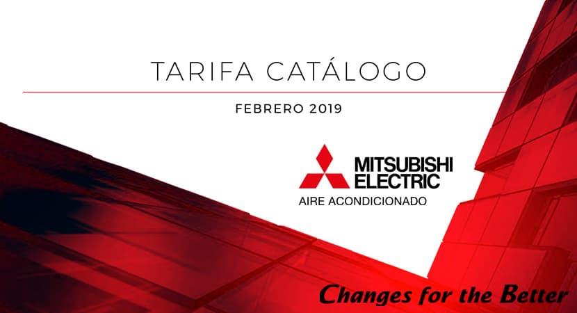 Tarifa catálogo 2019 (feb19) · Aires Acondicionados Mitsubishi Electric